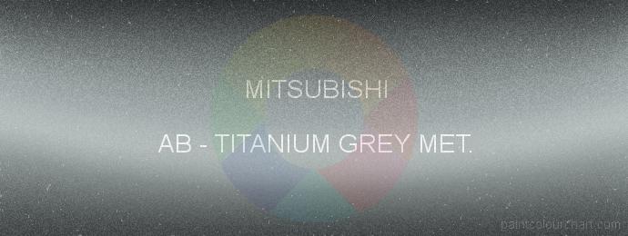 Mitsubishi paint AB Titanium Grey Met.