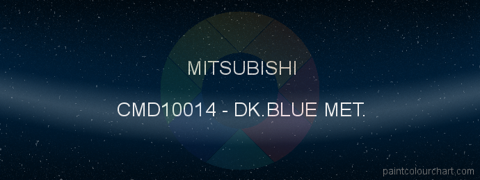 Mitsubishi paint CMD10014 Dk.blue Met.