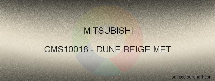 Mitsubishi paint CMS10018 Dune Beige Met.