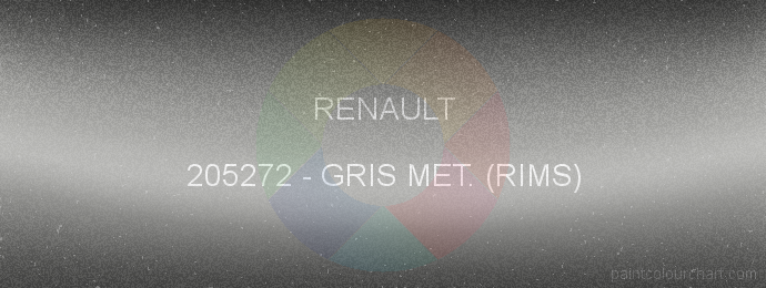 Renault paint 205272 Gris Met. (rims)