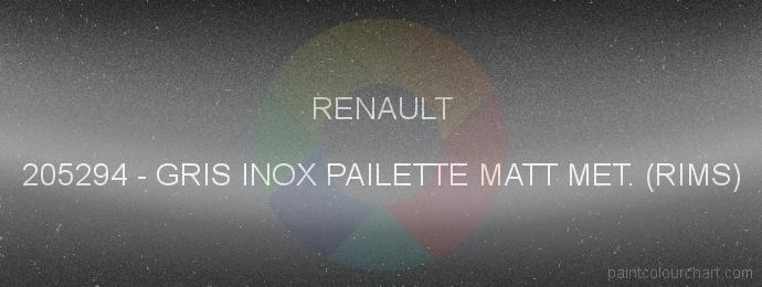 Renault paint 205294 Gris Inox Pailette Matt Met. (rims)