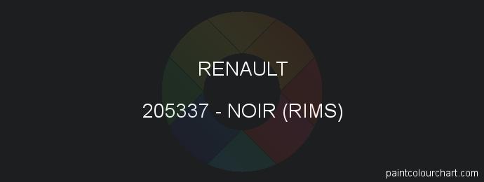 Renault paint 205337 Noir (rims)