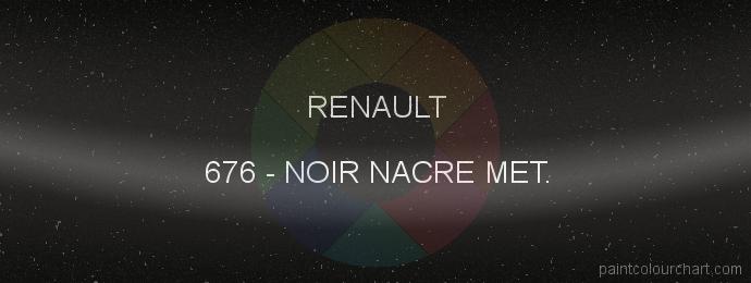 Renault paint 676 Noir Nacre Met.
