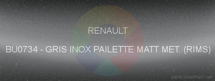 Renault paint BU0734 Gris Inox Pailette Matt Met. (rims)
