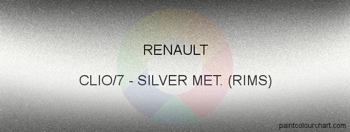 Renault paint CLIO/7 Silver Met. (rims)