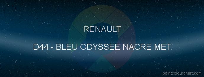 Renault paint D44 Bleu Odyssee Nacre Met.