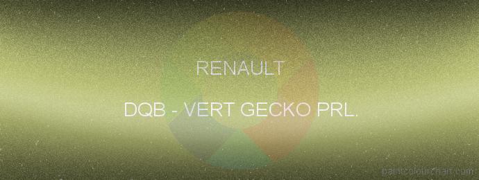 Renault paint DQB Vert Gecko Prl.