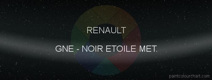Renault paint GNE Noir Etoile Met.