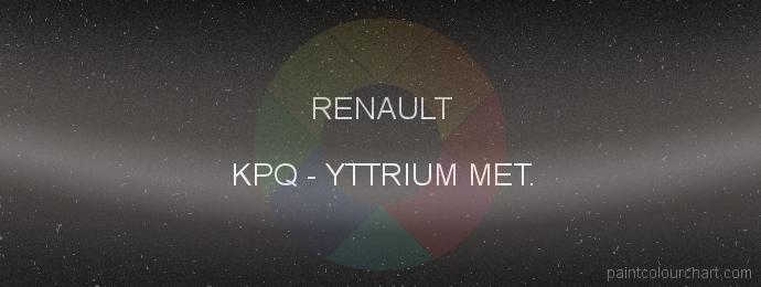 Renault paint KPQ Yttrium Met.