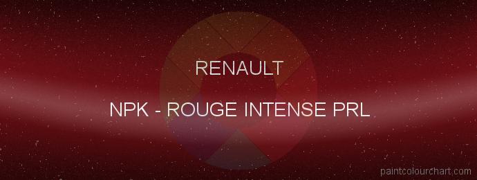 Renault paint NPK Rouge Intense Prl