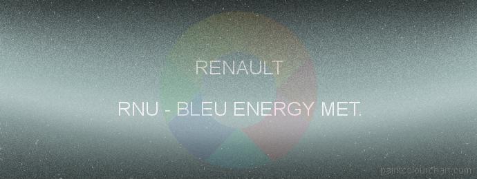 Renault paint RNU Bleu Energy Met.