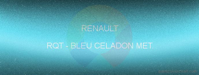 Renault paint RQT Bleu Celadon Met.