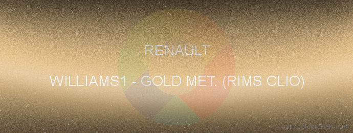 Renault paint WILLIAMS1 Gold Met. (rims Clio)
