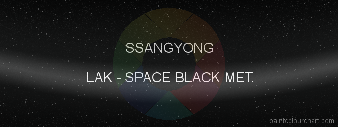 Ssangyong paint LAK Space Black Met.