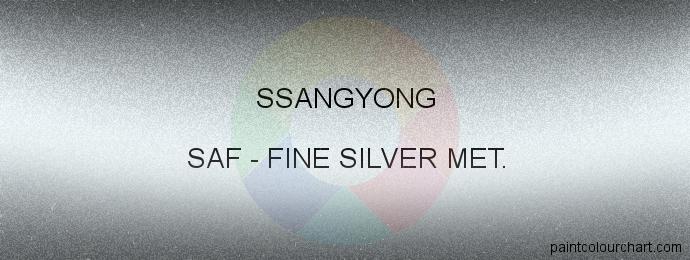 Ssangyong paint SAF Fine Silver Met.