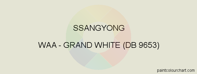 Ssangyong paint WAA Grand White (db 9653)