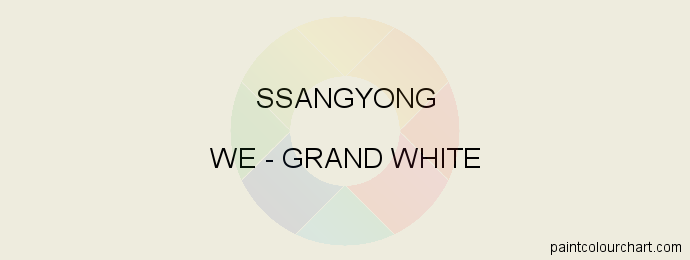 Ssangyong paint WE Grand White