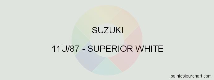 Suzuki paint 11U/87 Superior White