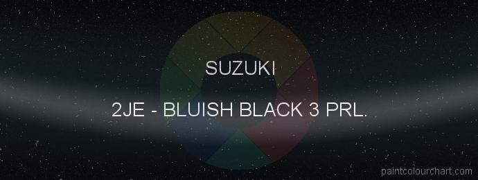 Suzuki paint 2JE Bluish Black 3 Prl.
