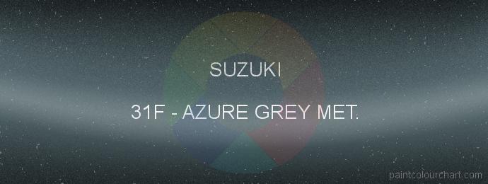 Suzuki paint 31F Azure Grey Met.