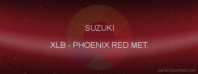 Suzuki paint XLB Phoenix Red Met.