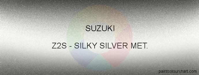 Suzuki paint Z2S Silky Silver Met.