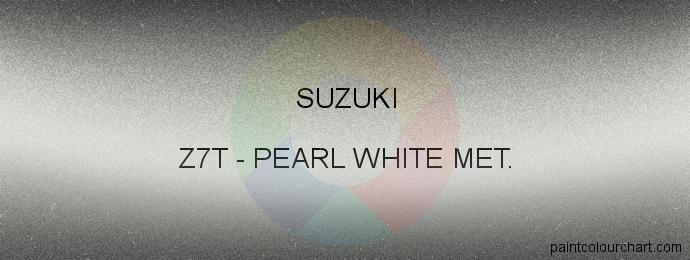 Suzuki paint Z7T Pearl White Met.