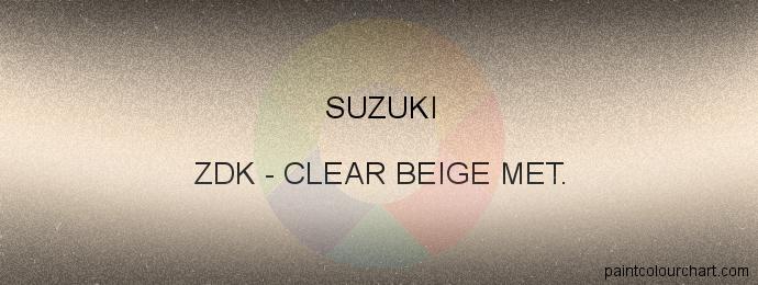 Suzuki paint ZDK Clear Beige Met.