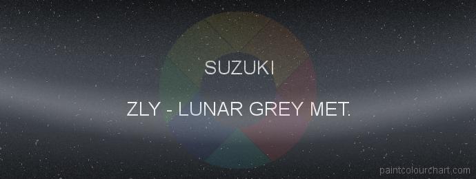 Suzuki paint ZLY Lunar Grey Met.