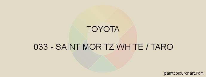 Toyota paint 033 Saint Moritz White / Taro