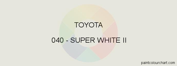 Toyota paint 040 Super White Ii