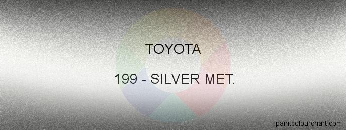 Toyota paint 199 Silver Met.