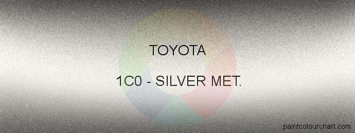 Toyota paint 1C0 Silver Met.