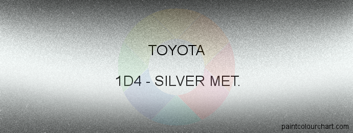 Toyota paint 1D4 Silver Met.