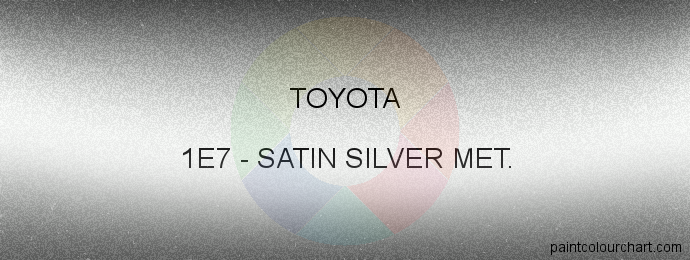 Toyota paint 1E7 Satin Silver Met.
