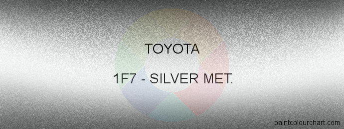 Toyota paint 1F7 Silver Met.
