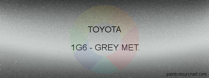 Toyota paint 1G6 Grey Met.