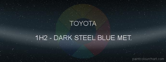 Toyota paint 1H2 Dark Steel Blue Met.