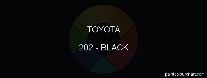 Toyota paint 202 Black