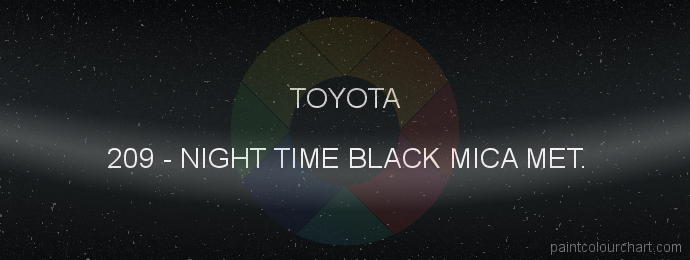 Toyota paint 209 Night Time Black Mica Met.