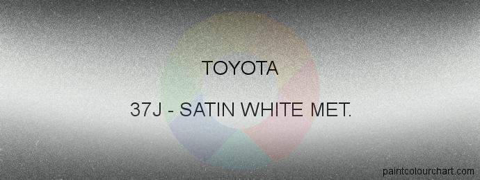 Toyota paint 37J Satin White Met.