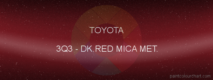 Toyota paint 3Q3 Dk.red Mica Met.