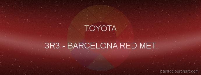 Toyota paint 3R3 Barcelona Red Met.