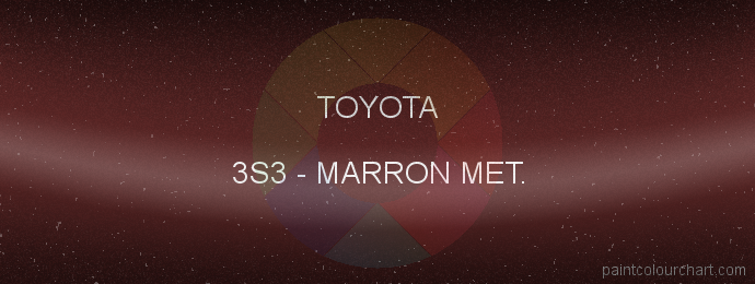Toyota paint 3S3 Marron Met.