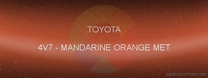 Toyota paint 4V7 Mandarine Orange Met.
