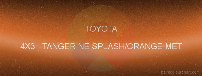 Toyota paint 4X3 Tangerine Splash/orange Met.