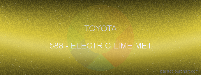 Toyota paint 588 Electric Lime Met.