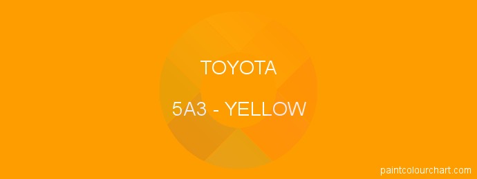Toyota paint 5A3 Yellow