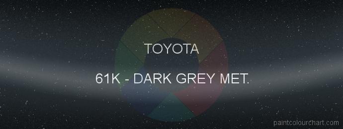 Toyota paint 61K Dark Grey Met.