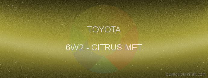 Toyota paint 6W2 Citrus Met.